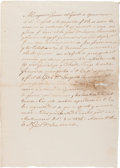 Miscellaneous:Ephemera, [Adrián Woll]. Manuscript Report to General José de Urrea....