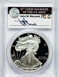 Modern Bullion Coins, 2006-W $1 One Ounce Silver Eagle Insert autographed By John M.Mercanti,12th Chief Engraver of the U.S. Mint, PR70 Deep Cameo...