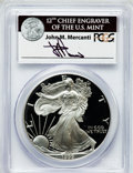 Modern Bullion Coins, 1999-P $1 One Ounce Silver Eagle Insert autographed By John M.Mercanti,12th Chief Engraver of the U.S. Mint, PR70 Deep C...