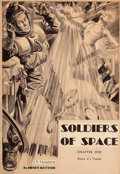 Pulp, Pulp-like, Digests, and Paperback Art, LAWRENCE STERNE STEVENS (American, 1884-1960). Soldiers ofSpace, Astonishing Stories, chapter one frontispiece,Februar...