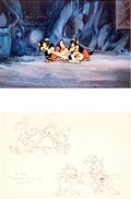 Animation Art:Production Cel, Three Little Wolves Production Cel and Drawing Group (WaltDisney, 1936)....