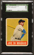 Baseball Cards:Singles (1940-1949), 1948 Leaf Joe DiMaggio #1 SGC 20 Fair 1.5....