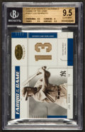"Baseball Cards:Singles (1970-Now), 2003 Leaf Certified Materials ""Fabric of The Game"" Lou Gehrig #14FG BGS Gem MT 9.5 - The Only Graded ..."