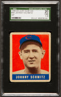Baseball Cards:Singles (1940-1949), 1948 Leaf Johnny Schmitz SP #48 SGC 20 Fair 1.5....
