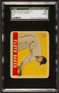 Baseball Cards:Singles (1940-1949), 1948 Leaf Floyd Baker SP #153 SGC 10 Poor 1....
