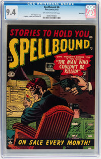 Spellbound #6 Bethlehem pedigree (Atlas, 1952) CGC NM 9.4 Off-white to white pages