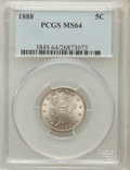 Liberty Nickels: , 1888 5C MS64 PCGS. PCGS Population (143/72). NGC Census: (119/59).Mintage: 10,720,483. Numismedia Wsl. Price for problem f...