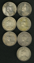 German East Africa, German East Africa: German Colonial Rupie Date Collection,...(Total: 7 coins)