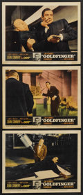 "Movie Posters:James Bond, Goldfinger (United Artists, 1964). Lobby Cards (3) (11"" X 14"").James Bond. ... (Total: 3 Items)"