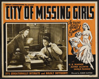 "City of Missing Girls (Select Attractions, 1941). Lobby Card (11"" X 14""). Cult Classic"