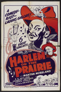 """Movie Posters:Black Films, Harlem on the Prairie (Associated Features, R-1949). One Sheet(27.5"""" X 42""""). Black Films. ..."""