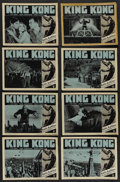 """Movie Posters:Horror, King Kong (RKO, R-1952). Lobby Card Set of 8 (11"""" X 14""""). Horror.... (Total: 8 Items)"""