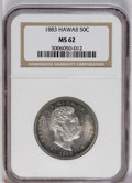 Coins of Hawaii: , 1883 50C Hawaii Half Dollar MS62 NGC. NGC Census: (36/56). PCGSPopulation (49/94). Mintage: 700,000. (#10991)...
