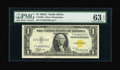 Small Size:World War II Emergency Notes, Fr. 2306 $1 1935A North Africa Silver Certificate. PMG Choice Uncirculated 63 EPQ.. ...