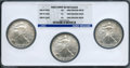 Modern Bullion Coins, 2006-W $1 One-Ounce Silver Eagle, West Point Early Releases MS69NGC, 2007-W $1 One-Ounce Sil... (Total: 3 coins)