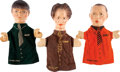 Memorabilia:Miscellaneous, Three Stooges Hand Puppet Group (c. 1940s)....