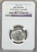 Standing Liberty Quarters: , 1920 25C -- Improperly Cleaned -- NGC Details. UNC. NGC Census:(0/976). PCGS Population (8/1240). Mintage: 27,860,000. Num...