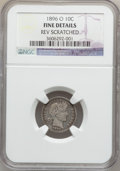 Barber Dimes: , 1896-O 10C -- Rev Scratched -- NGC Details. Fine. NGC Census:(6/53). PCGS Population (7/109). Mintage: 610,000. Numismedia...