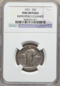 Standing Liberty Quarters: , 1921 25C -- Improperly Cleaned -- NGC Details. Fine. NGC Census:(37/606). PCGS Population (34/955). Mintage: 1,916,000. Nu...