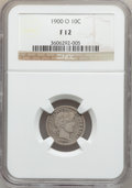 Barber Dimes: , 1900-O 10C Fine 12 NGC. NGC Census: (1/80). PCGS Population(4/139). Mintage: 2,010,000. Numismedia Wsl. Price for problem ...
