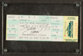 Basketball Collectibles:Others, 1991 Shaquille O'Neal Signed LSU Full Ticket....