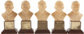 Baseball Collectibles:Others, . 1963 Baseball Hall of Fame Busts Lot of 5....