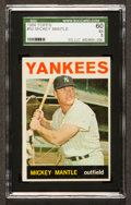 Baseball Cards:Singles (1960-1969), 1964 Topps Mickey Mantle #50 SGC 60 EX 5....