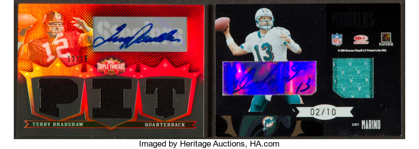save off 1b0ab 78bbe 2000's Marino/Griese & Bradshaw Autographed/Jersey Limited ...