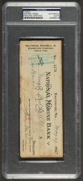 Baseball Collectibles:Others, 1929 George Weiss Signed Check. ...