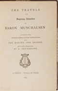 Books:Literature Pre-1900, [George Cruikshank, illustrator]. [Rudolf Erich Raspe]. TheTravels and Surprising Adventures of Baron Munchausen. T...