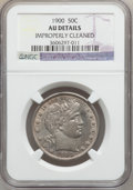 Barber Half Dollars: , 1900 50C -- Improperly Cleaned -- NGC Details. AU. NGC Census:(4/237). PCGS Population (14/300). Mintage: 4,762,912. Numis...