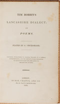 Books:Literature Pre-1900, [George Cruikshank, illustrator]. Tim Bobbin's Lancashire Dialect; and Poems. Hurst, Chance, 1828. First edition...