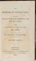 Books:Literature Pre-1900, Timothy Testy [pseudonym for James Beresford]. The Miseries ofHuman Life. Miller, 1806. Fifth edition. With han...