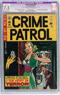 Golden Age (1938-1955):Crime, Crime Patrol #16 (EC, 1950) CGC Apparent VF- 7.5 Moderate (P) Off-white to white pages....