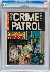 Crime Patrol #15 (EC, 1950) CGC VG 4.0 Off-white pages
