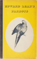 Books:Natural History Books & Prints, [Edward Lear]. Brian Reade. Edward Lear's Parrots. With twelve reproductions of coloured lithographs from Lear's P...