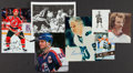 Hockey Cards:Lots, Collection of Signed Hockey Memorabilia With Index Cards, Cards& Pucks. ...