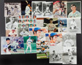 Autographs:Photos, Baseball Greats Signed Photograph Collection Of 20+....