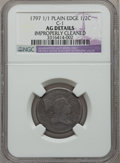 Half Cents: , 1797 1/2 C Plain Edge -- Improperly Cleaned -- NGC Details. AG.C-1. NGC Census: (3/49). PCGS Population (1/139). Mintage:...