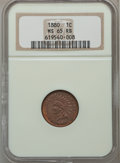 Indian Cents: , 1880 1C MS65 Red and Brown NGC. NGC Census: (83/16). PCGSPopulation (56/2). Mintage: 38,964,956. Numismedia Wsl. Pricefor...