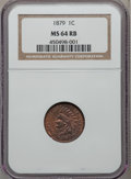 Indian Cents: , 1879 1C MS64 Red and Brown NGC. NGC Census: (188/122). PCGSPopulation (261/75). Mintage: 16,231,200. Numismedia Wsl. Price...