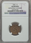 Indian Cents: , 1860 1C -- Improperly Cleaned -- NGC Details. AU. NGC Census:(10/1035). PCGS Population (36/1217). Mintage: 20,566,000. Nu...