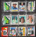 Baseball Cards:Lots, 1978, '79 and '81 Topps Baseball Rack Pack Trio (3) With O. Smithand Ryan Showing. ...