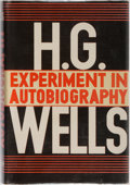 Books:Biography & Memoir, H. G. Wells. Experiment in Autobiography. Macmillan, 1934.First American edition. Minor rubbing to dust jacket, two...
