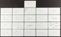 Basketball Collectibles:Others, Basketball Greats Signed Index Cards Lot of 250+....