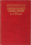 Books:Social Sciences, H. G. Wells. Anticipations. Chapman & Hall, 1902. Firstedition. Spine very slightly sunned, minor rubbing to bindin...