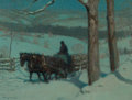 Fine Art - Painting, American:Modern  (1900 1949)  , VICTOR COLEMAN ANDERSON (American, 1882-1937). New EnglandWinter, 1936. Oil on artists' board. 12 x 16 inches (30.5 x4...
