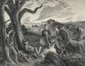 Prints, JOHN STOCKTON DE MARTELLY (American, 1903-1980). Blue Valley Fox Hunt and Ride-A-Cock-Horse (pair). Lithographs. 12-... (Total: 2 Items)