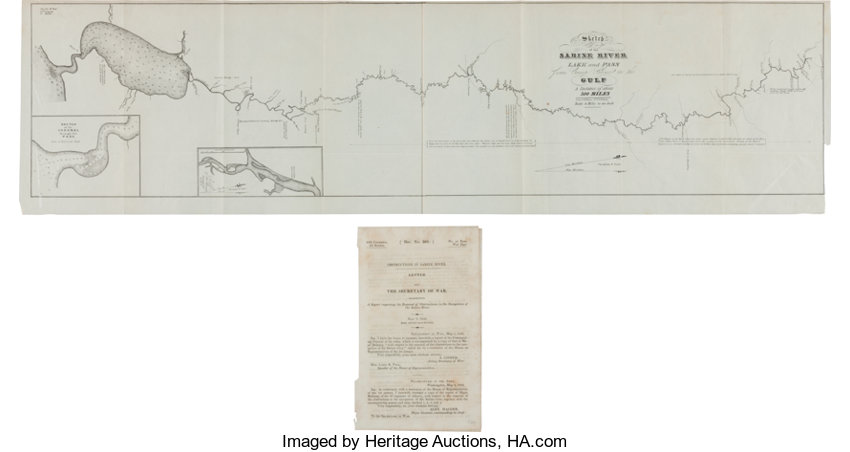 Map]. United States War Department. Sketch of the Sabine ... on camp cherry valley, camp columbia, camp creek, camp dunlap, camp westwind, camp mason, camp delta, camp jackson, camp belknap, camp polk, camp gordon johnston, camp washington, camp lebanon, camp border,