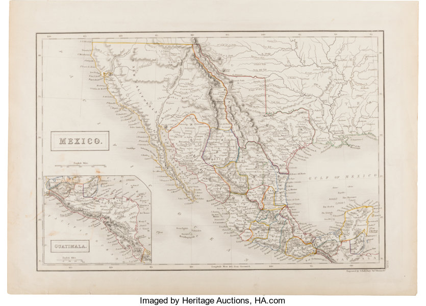 Map S Idney Hall Mexico Miscellaneous Maps Lot 34163
